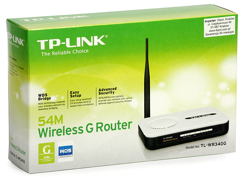 1285692438 n2952+++++++ TP Link 340GD 54Mbits Wireless 4 Port LAN