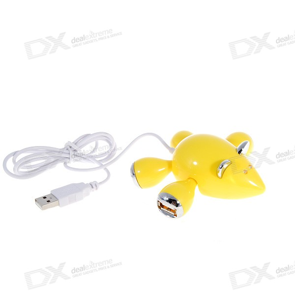 Mice Style 4-Port USB 2.0 Hub (with LED Eyes) - MICE STYLE 4 - PORT USB 2.0 HUB ( WITH LED EYES)