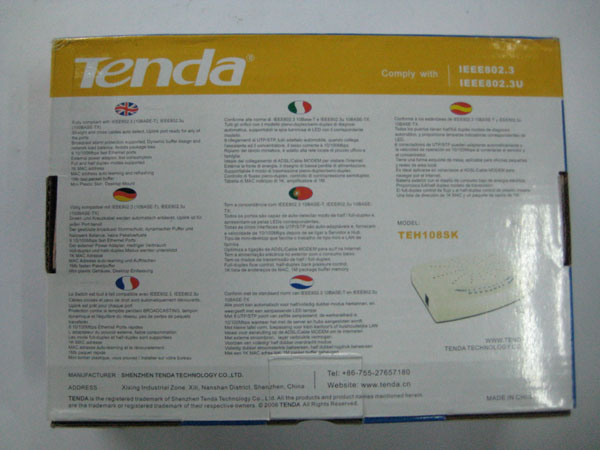 SWITCH TENDA 5 PORT, GIÁ SWITCH TENDA 5 PORT, BÁN TENDA 5 PORT, SWITCH MANG TENDA 5 PORT