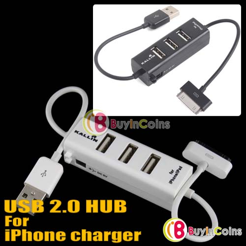 Hub USB 3 port Ipod, Hub USB Ipod 2.0, Hub Iphone USB 2.0