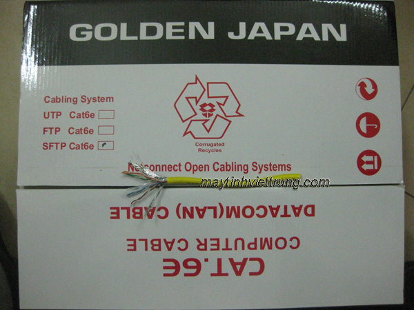 CAP MANG GOLDEN JAPAN UTP CAT6E 8/0.57MM, BÁN CÁP MẠNG GOLDEN JAPAN, CÁP MẠNG